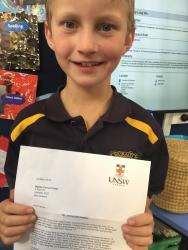 1 Fergus was pretty excited to receive his letter