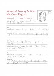 Laura Room 3 Mid Year Report 2015