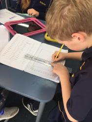 4 Riley Analysing his data and ruling bars for his graph2