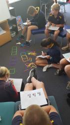 Engaged Sharing ideas Student Learning Nikau Ben and Alex identifying the rule. 01