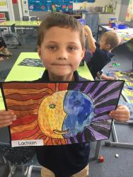 Lachlan worked very hard on his picture