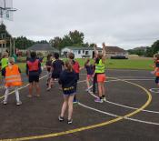 21. year 5 girls playing some netball
